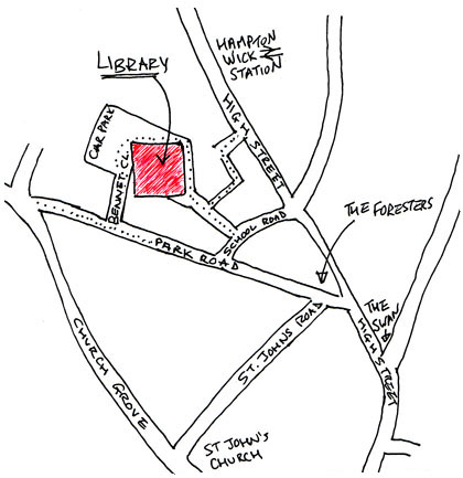 How to find Hampton Wick Library